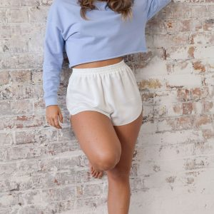 Basics Crop Blue Jumper Sweatshirt