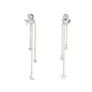 Celestial Asymmetric Long Chain Earrings wg