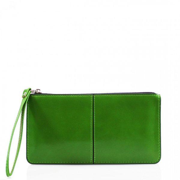 Evie Green Wristlet Clutch