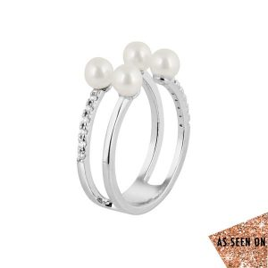 Pearl With Cubic Ring wg