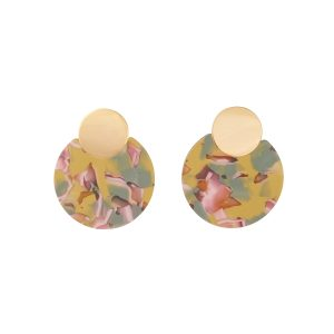 Round Mixed Pattern Earrings