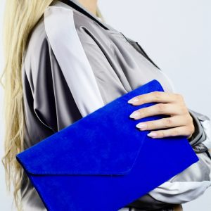 Sade Blue Clutch Bag