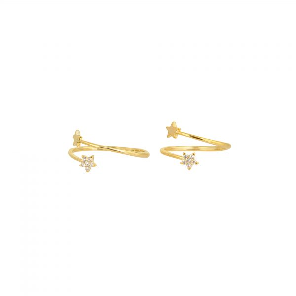 Tiny Star Ring Set gold