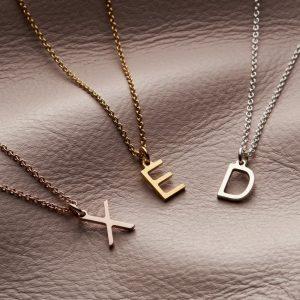 letter necklace sgroup