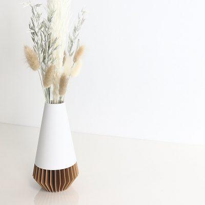 white brown 3d printed vase wholesale plant pot