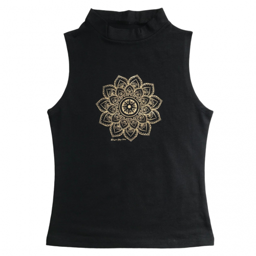 Gold Mandala Print Vest