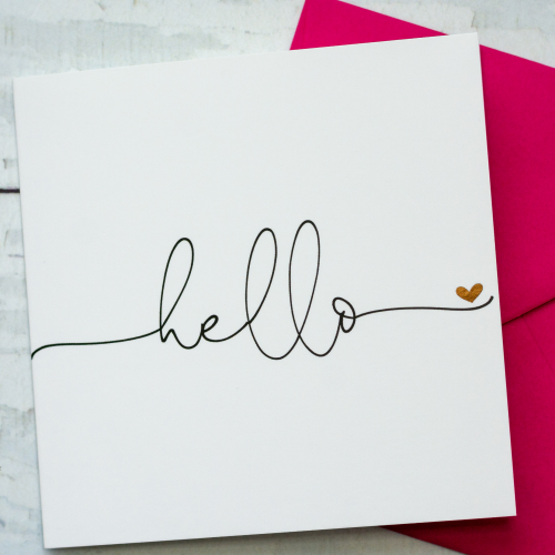 modern typography blank greeting card for any occasion