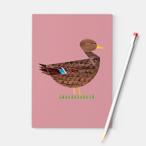Ellie Good Illustration Mrs Mallard A6 notebook