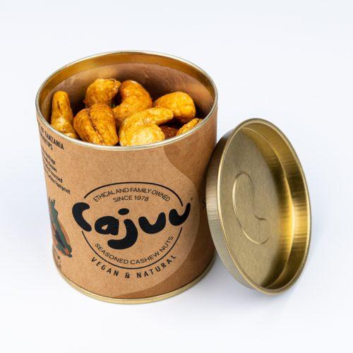 cajuu vanilla and salted caramel cashew nut tube