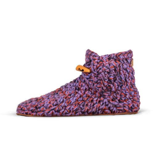 So 70s Purple Wool Slippers_side_Kingdom of Wow!