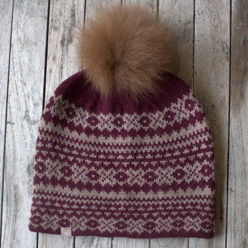Alpaca Fair Isle Pom Pom Hat