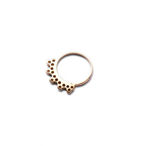 gold india ring by may hofman jewellery