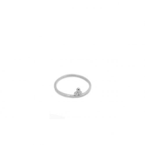 silver little om ring by may hofman