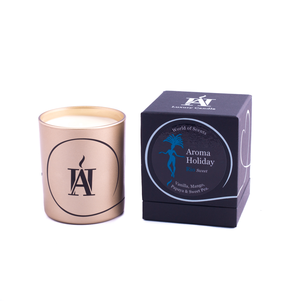 Luxury Rio Sweet Scented Candle By Aroma Holiday Creoate