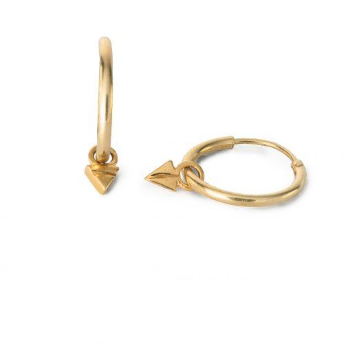 Triangle Drop Hoops by may hofman jewellery